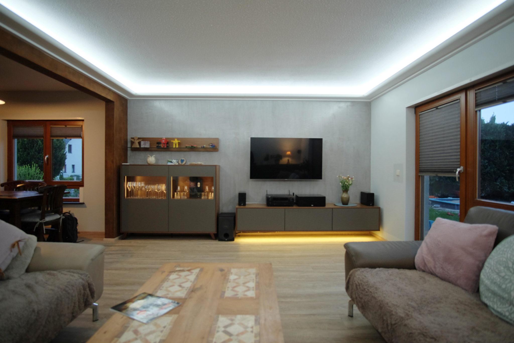 Lichtvoute kaltweiß mit LEDs