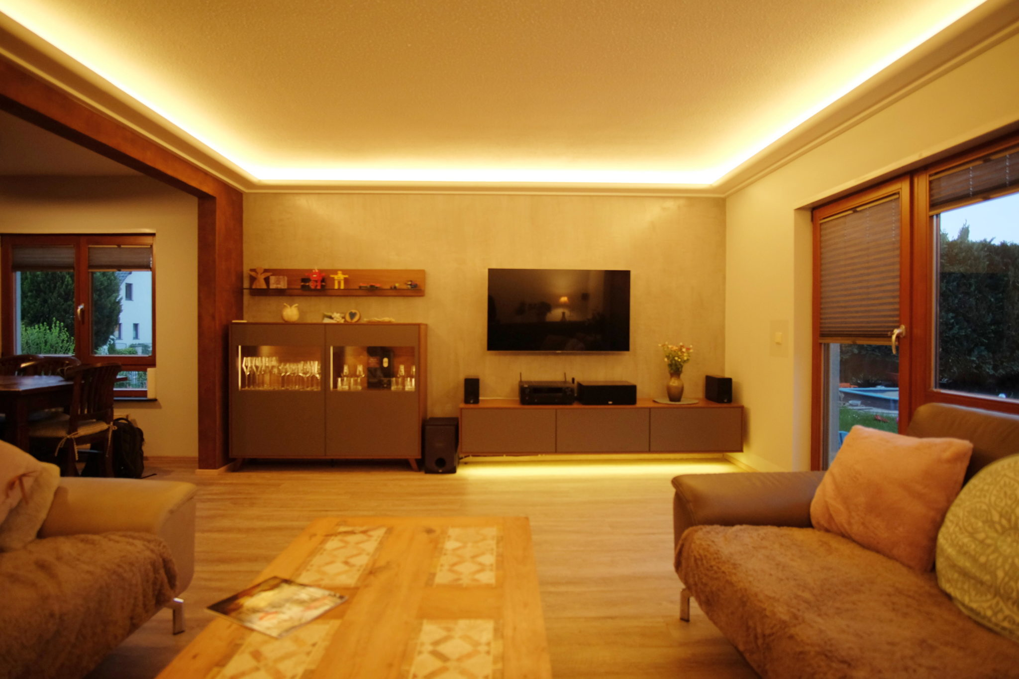 Lichtvoute warmweiß mit LED