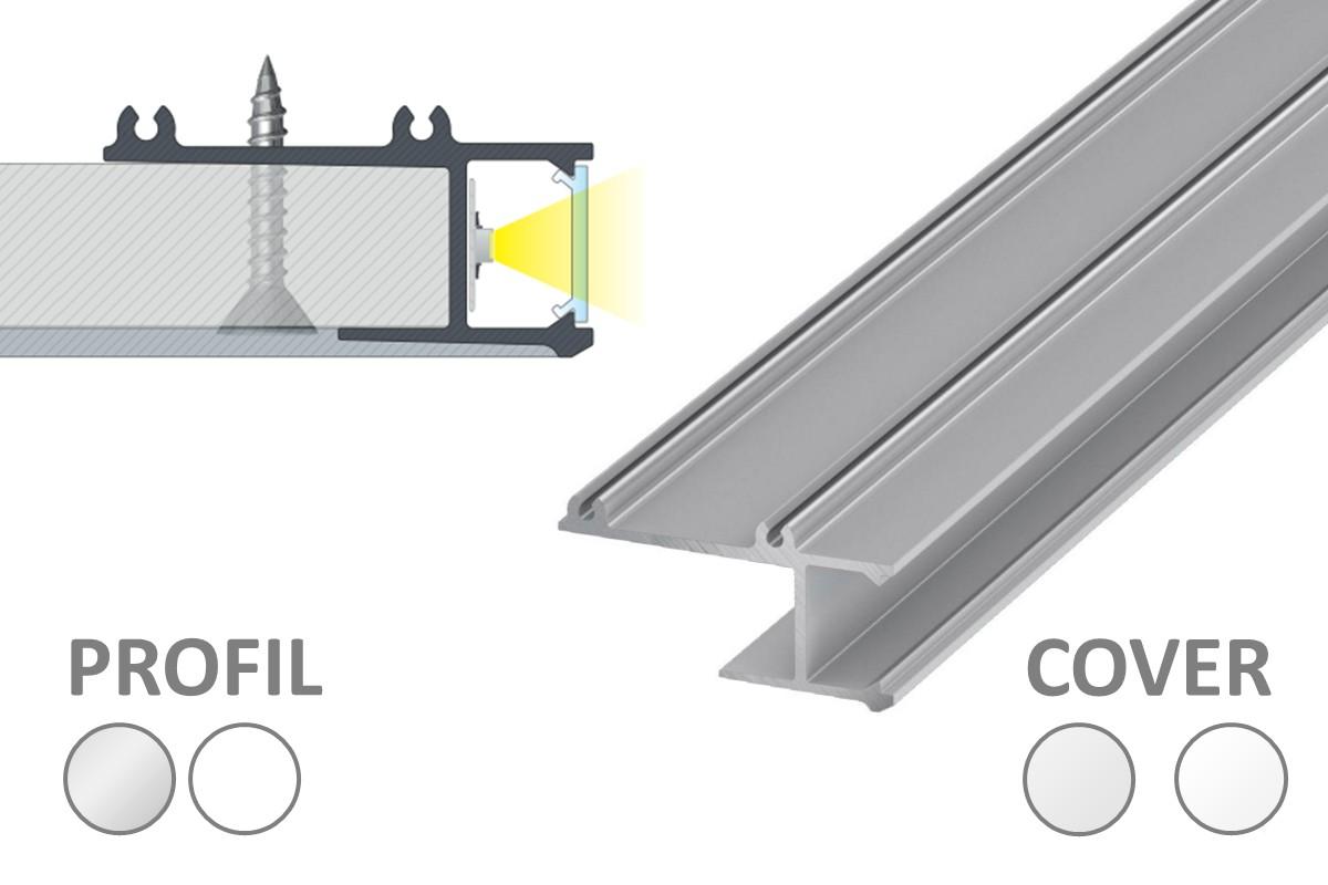 APA Profil für indirekte Beleuchtung mit LED-Streifen