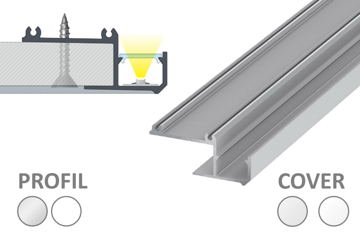 IPA Profil für indirekte Beleuchtung mit LED-Streifen