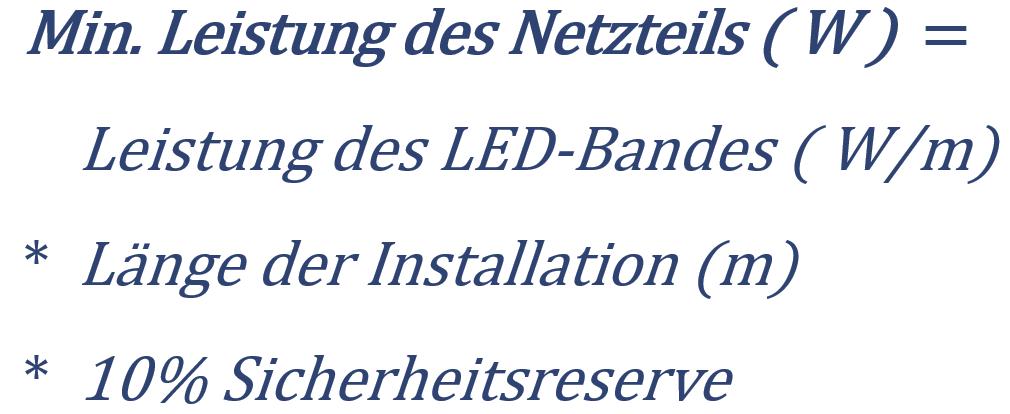 LED Netzteil Berechnung